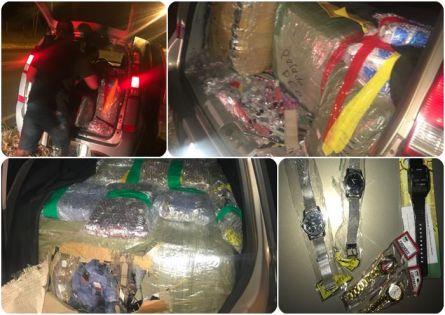 d966a395cc8 Mais de 15 mil relógios de pulso contrabandeados do Paraguai foram  apreendidos pela Polícia Militar de Bernardino de Campos durante uma  abordagem de rotina ...